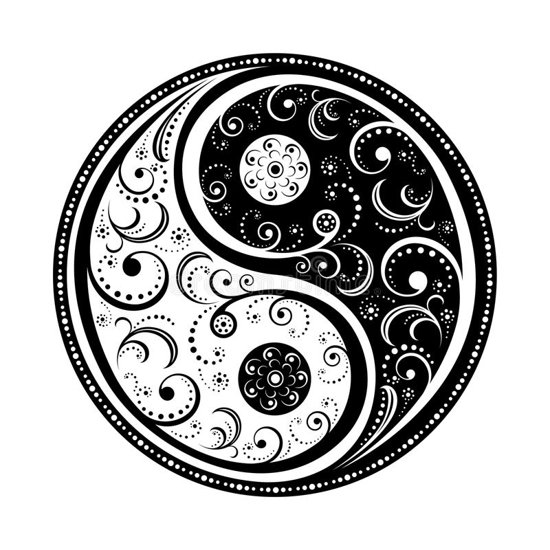 symbolu Yang yin royalty ilustracja