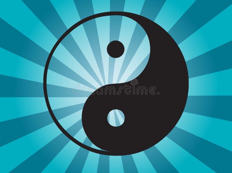 symbolu Yang yin ilustracja wektor
