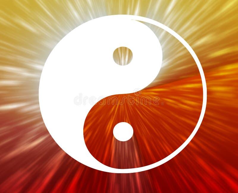 symbolu Yang yin ilustracji