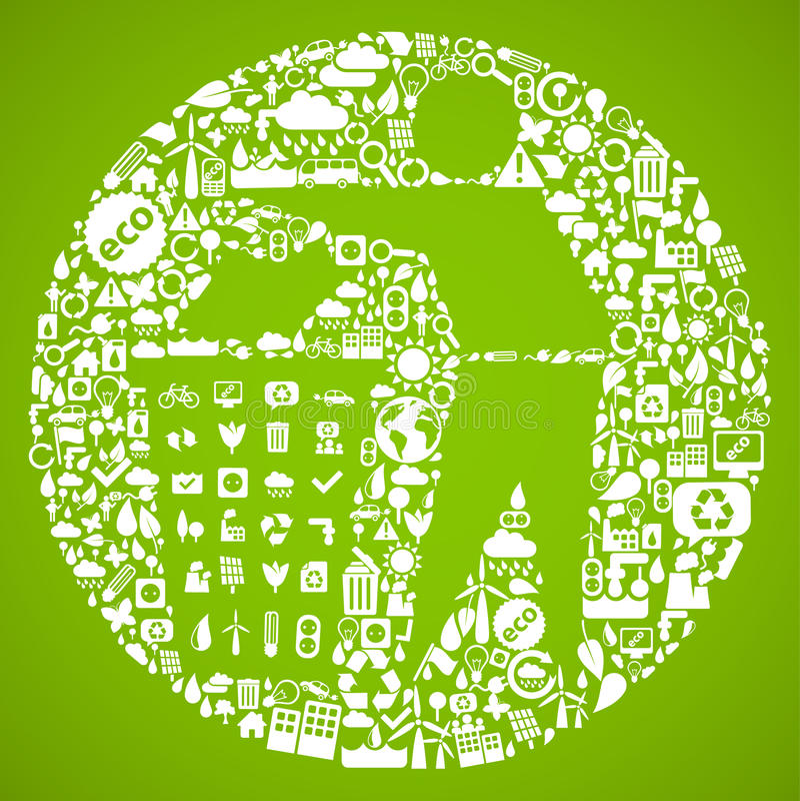 symbolu zielony grat royalty ilustracja