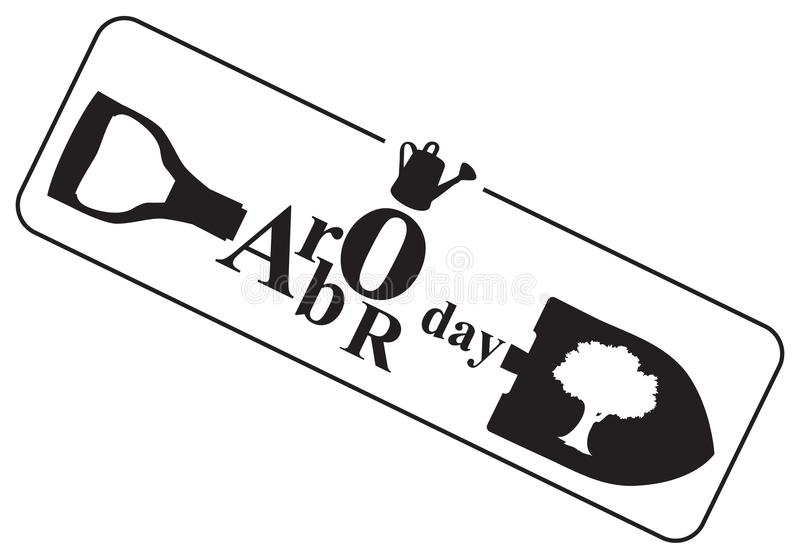 Symbool aan 27 April Asdag vector illustratie