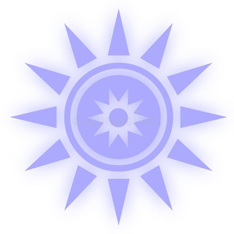 Symbool do ícone da estrela Estrela lustrosa etiquetas dadas forma da Web Estilo do elemento para a meditação do chakra ilustração stock