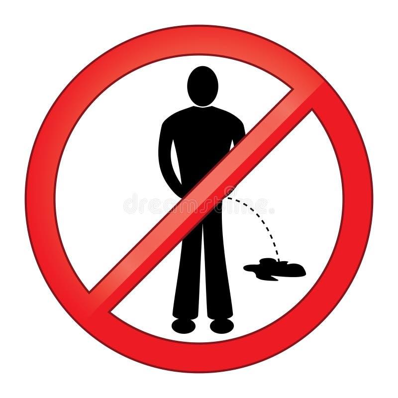 Download Symbool Geen het Urineren vector illustratie. Illustratie bestaande uit toegestaan - 39101064