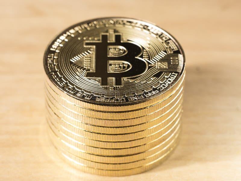 symbool gouden Bitcoins stock afbeelding