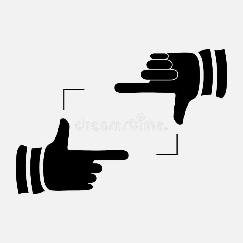 Symbool het in orde maken het tonen van handen die kader in orde maken royalty-vrije stock foto