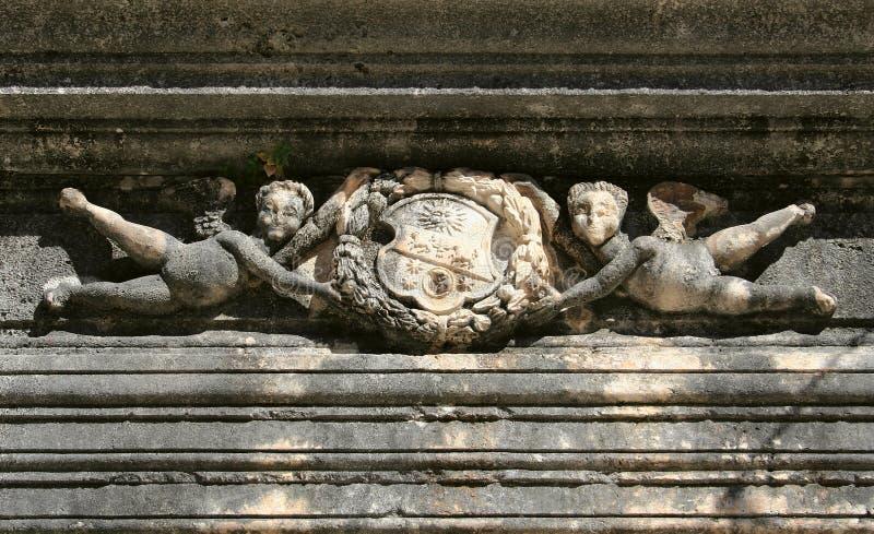 Symbool op paleis stock afbeelding