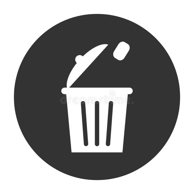 Symbool of pictogram of knoopbeeld hoe te om huisvuil te werpen royalty-vrije illustratie
