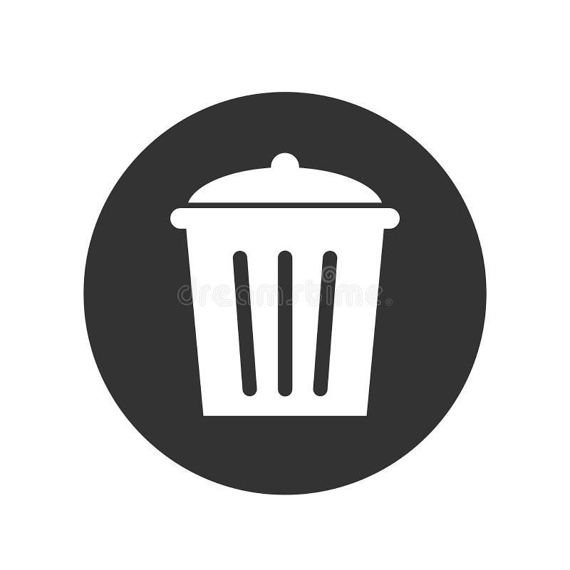 Symbool of pictogram of knoopbeeld van het afval vector illustratie