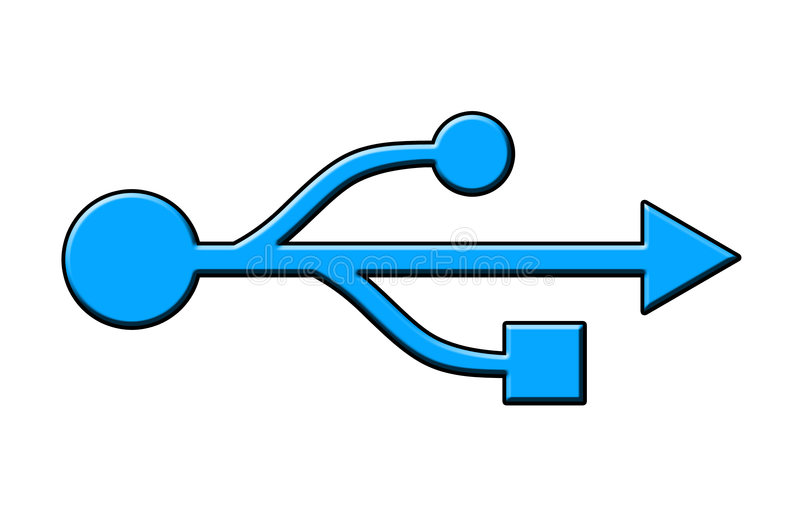Symbool USB royalty-vrije stock afbeelding