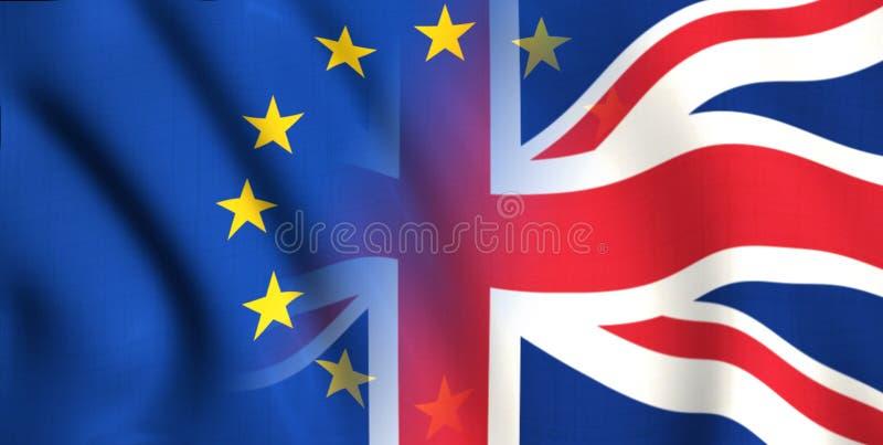 Symbool van brexit Groot-Brittannië en Europa stock illustratie