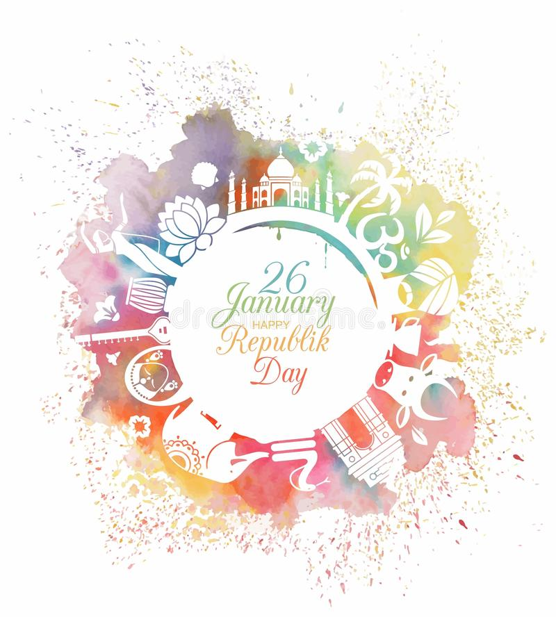 Symbool van de Dag van de Republiek van India stock illustratie