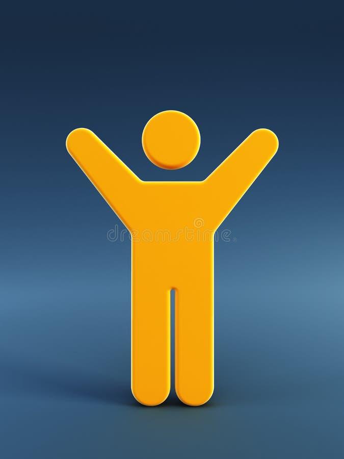 Symbool van de lopende man vector illustratie