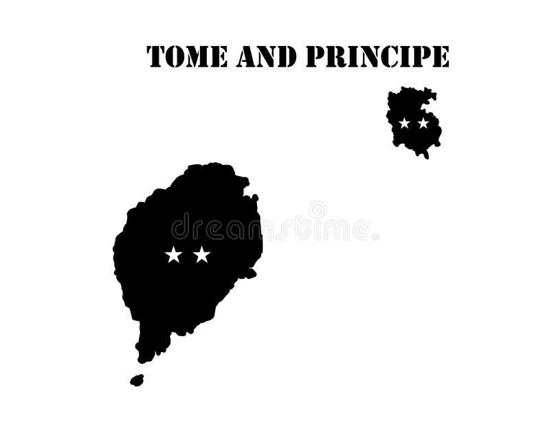 Symbool van Eiland van Boekdeel en Principe en kaart vector illustratie