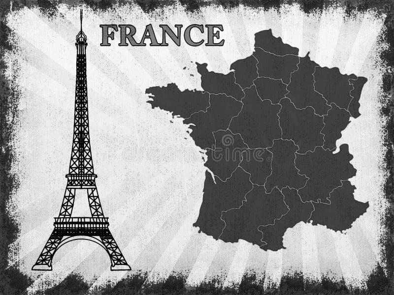 Symbool van Frankrijk stock illustratie