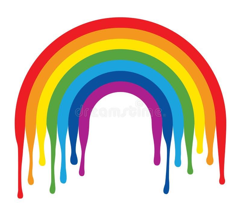 Symbool van geschilderde regenboogboog stock illustratie