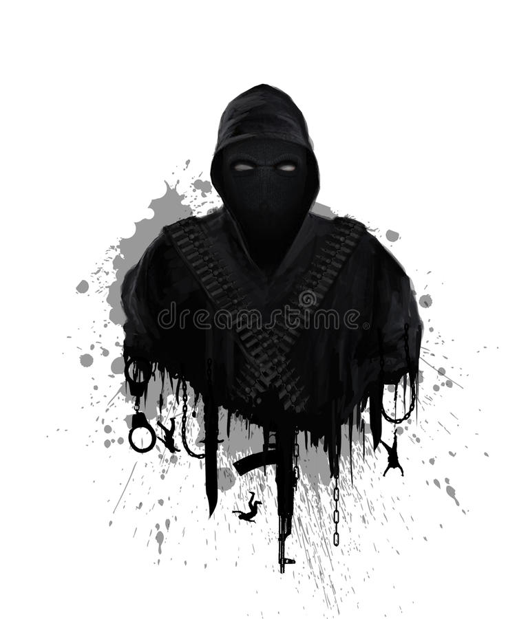 Symbool van globaal terrorisme vector illustratie