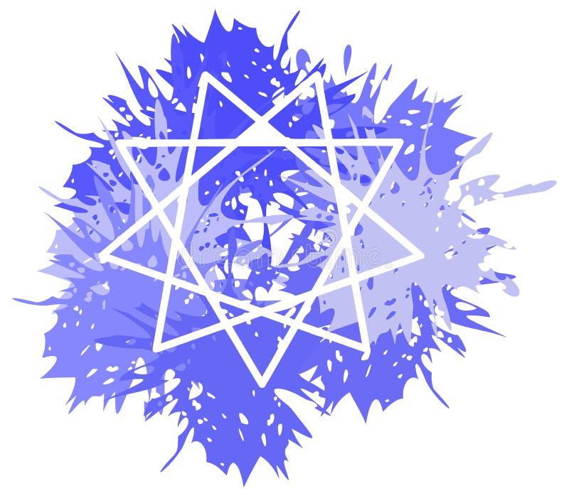 Symbool van Heilige Geest met geïsoleerde die vlekken wordt gemaakt vector illustratie