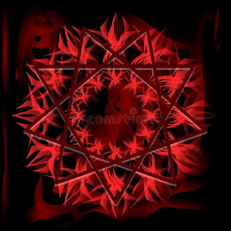 Symbool van Heilige Geest op achtergrond in rode tonen royalty-vrije illustratie