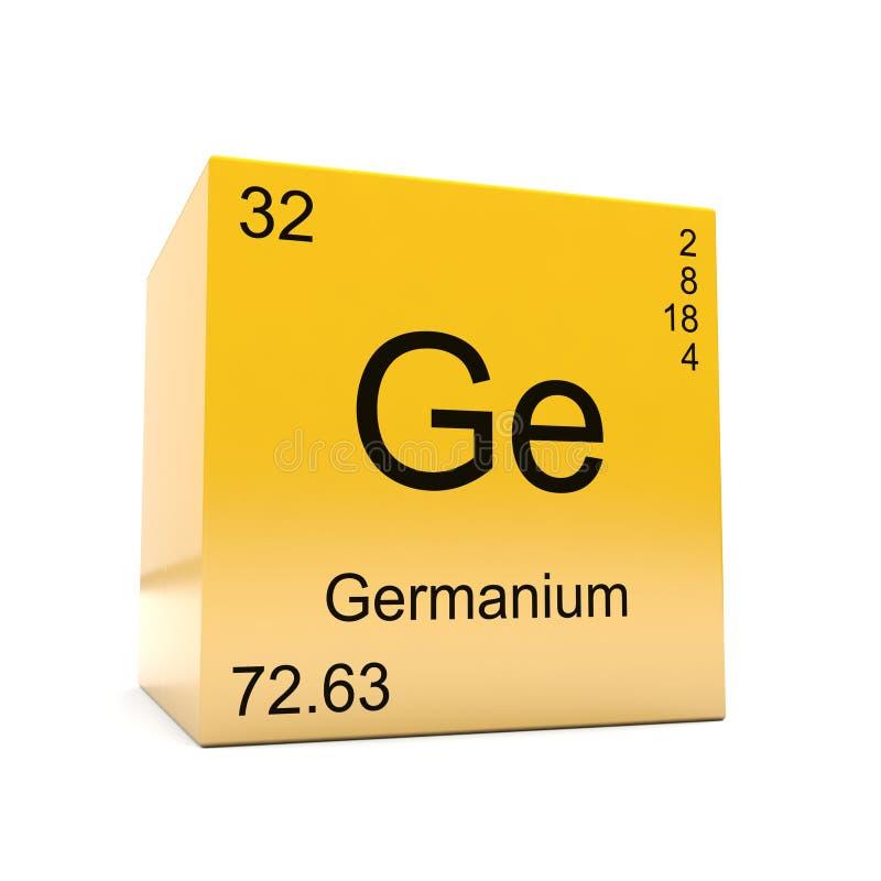 Symbool van het germanium het chemische element van periodieke lijst royalty-vrije illustratie