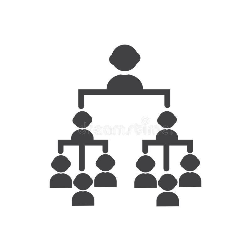 Symbool van het hiërarchie het vectorteken vector schoon Hiërarchiepictogram voor website of mobiele toepassingen vector illustratie