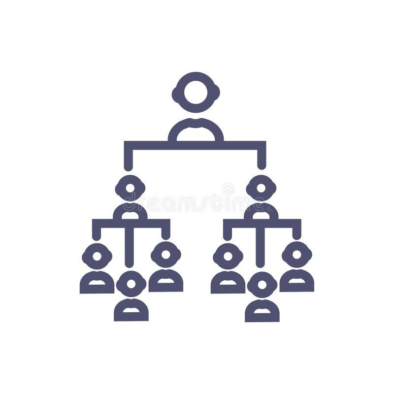 Symbool van het hi?rarchie het vectorteken vector schoon Hi?rarchiepictogram voor website of mobiele toepassingen royalty-vrije illustratie