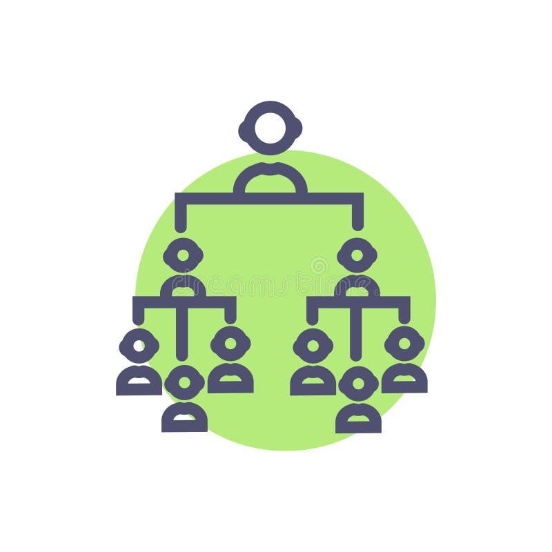 Symbool van het hi?rarchie het vectorteken vector schoon Hi?rarchiepictogram voor website of mobiele toepassingen stock illustratie