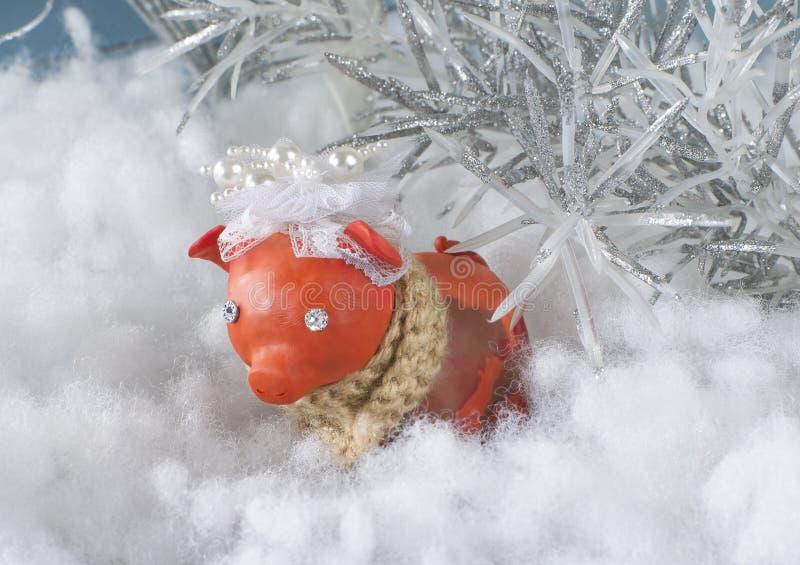 Symbool van 2019, het jaar van het varken, het nieuwe jaar royalty-vrije stock foto's