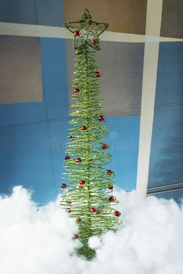 Symbool van 2019, het nieuwe jaar, Kerstmis decoratieve boom stock afbeelding