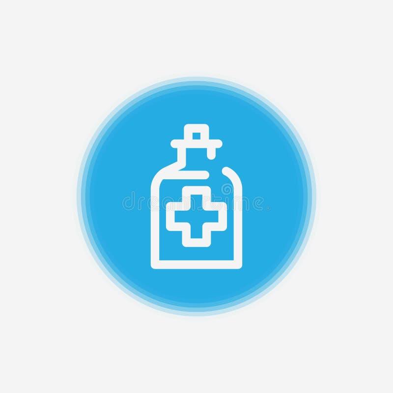 Symbool van het het pictogramteken van de alcoholgeneeskunde het vector stock illustratie