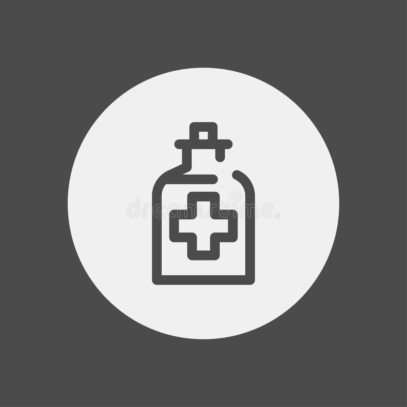 Symbool van het het pictogramteken van de alcoholgeneeskunde het vector royalty-vrije illustratie
