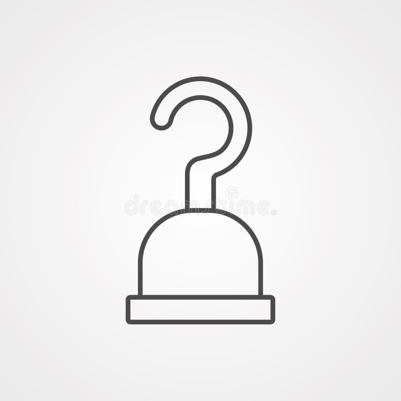 Symbool van het het pictogramteken van de piraathaak het vector royalty-vrije illustratie