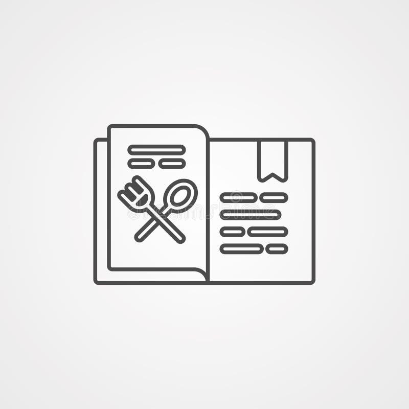 Symbool van het het pictogramteken van het receptenboek het vector stock illustratie