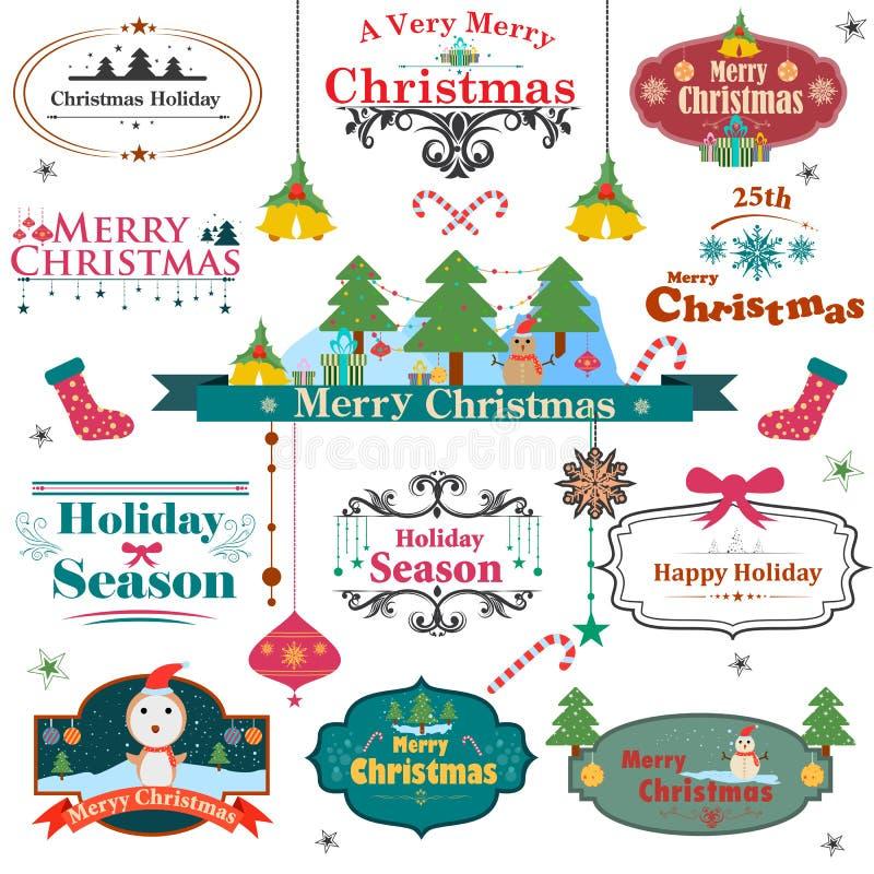 Symbool van kleurrijke Kerstmis vector illustratie
