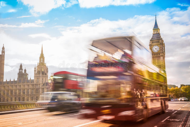 Symbool van Londen, de Big Ben, Londen het UK stock fotografie