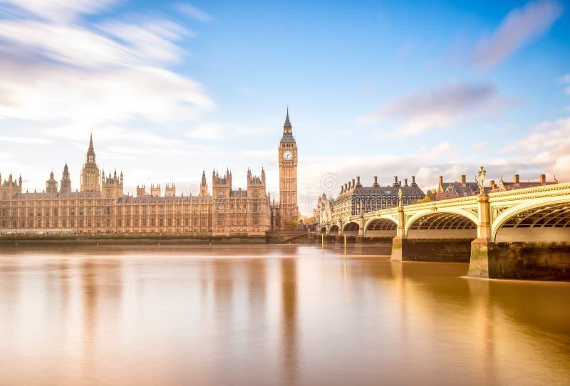 Symbool van Londen, de Big Ben, Londen het UK stock afbeelding