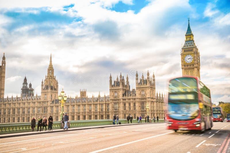 Symbool van Londen, de Big Ben, Londen het UK royalty-vrije stock afbeeldingen