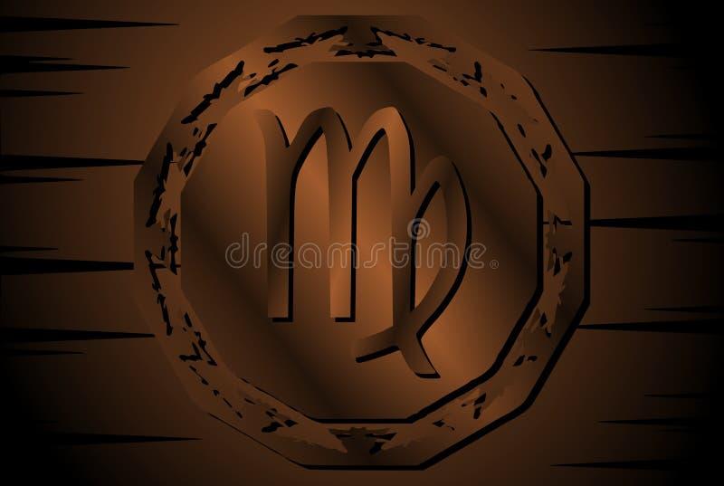 Symbool van maagdelijk teken op achtergrond royalty-vrije illustratie
