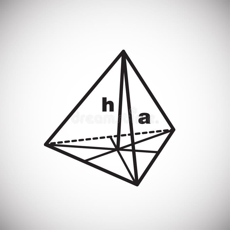 Symbool van meetkunde op witte achtergrond royalty-vrije illustratie
