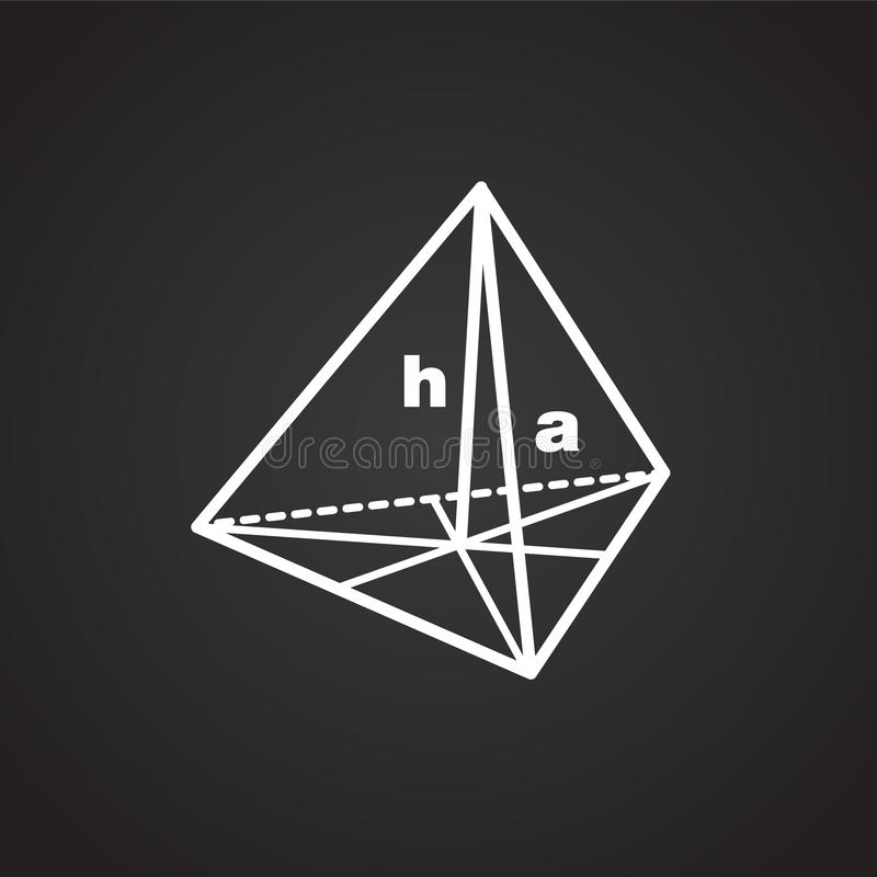 Symbool van meetkunde op zwarte achtergrond vector illustratie