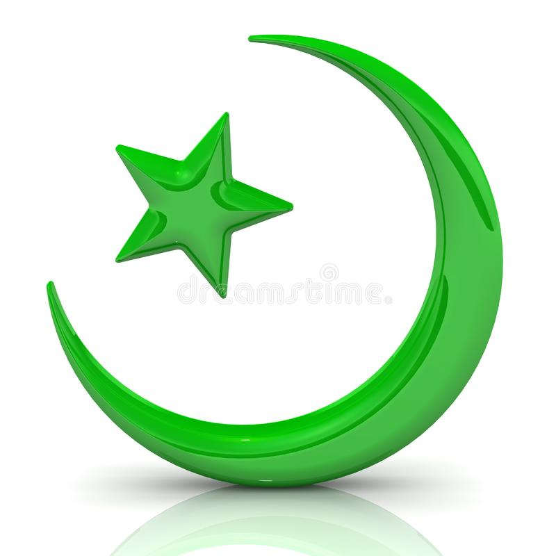 Symbool van Mohammedanisme stock illustratie