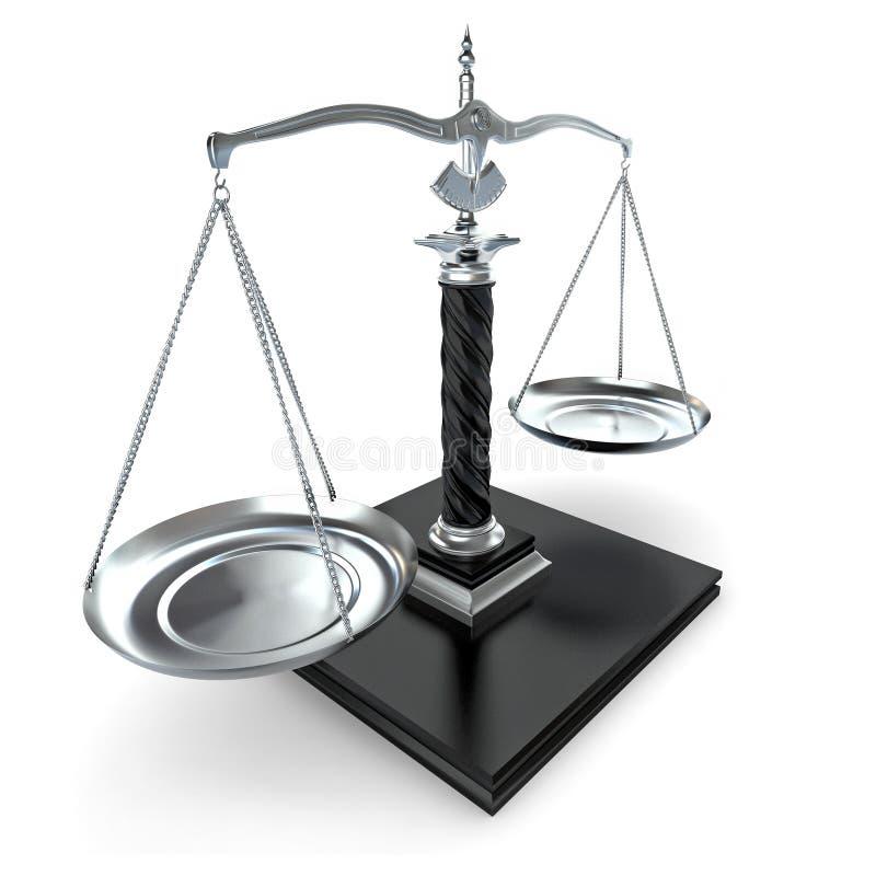Symbool van rechtvaardigheid. Schaal. 3d royalty-vrije illustratie