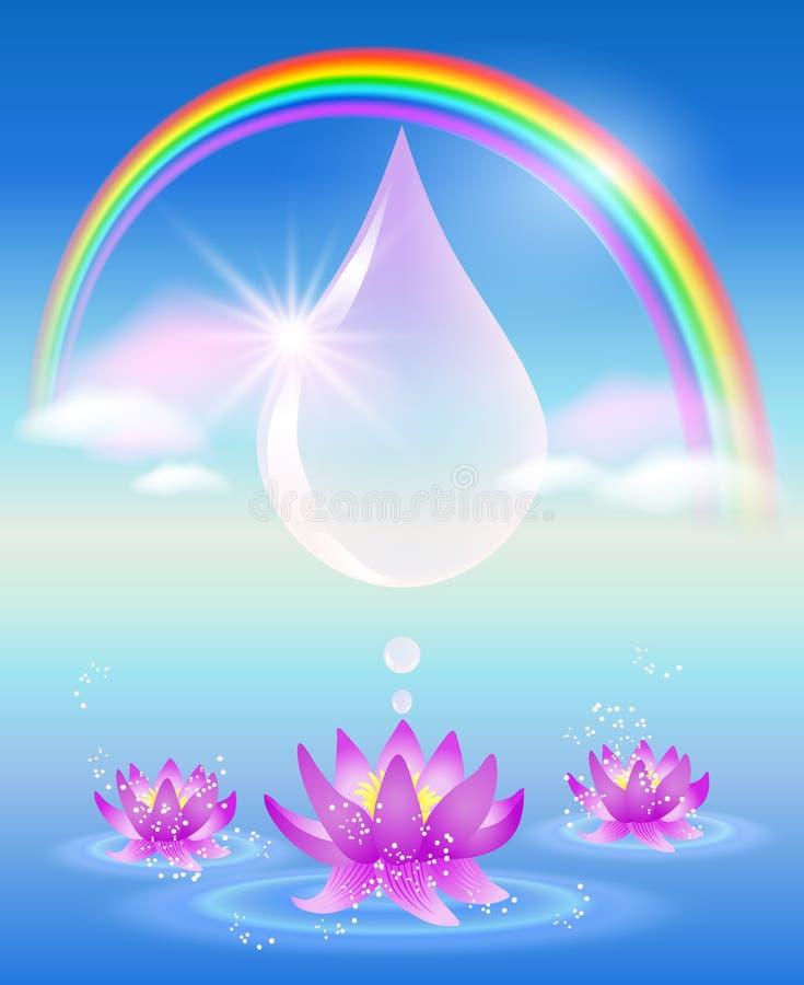 Symbool van schoon water vector illustratie