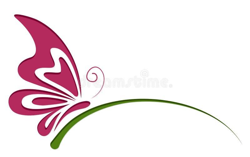 Symbool van vlinder royalty-vrije illustratie