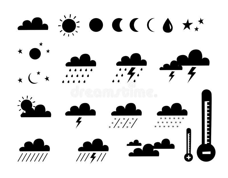 Symbool van weer en klimaat stock illustratie