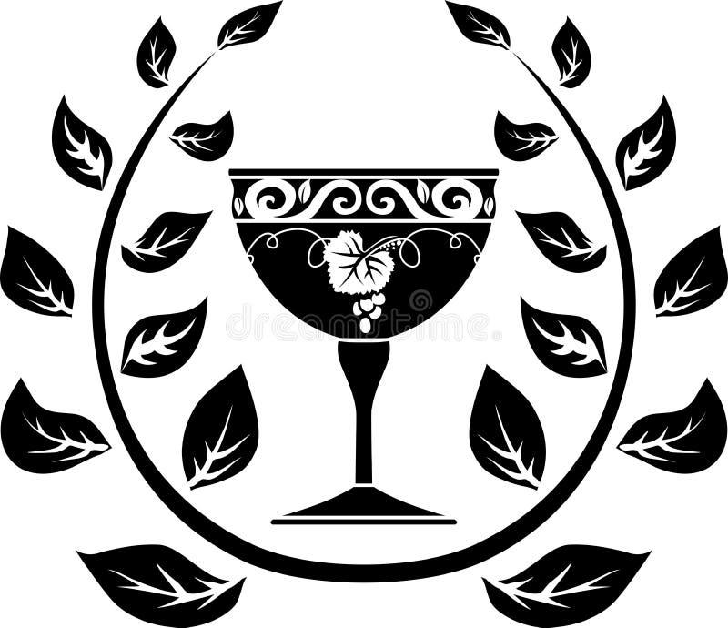 Symbool van wijn royalty-vrije illustratie