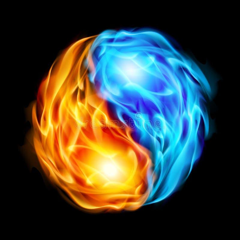 Symbool van yin en yang royalty-vrije illustratie