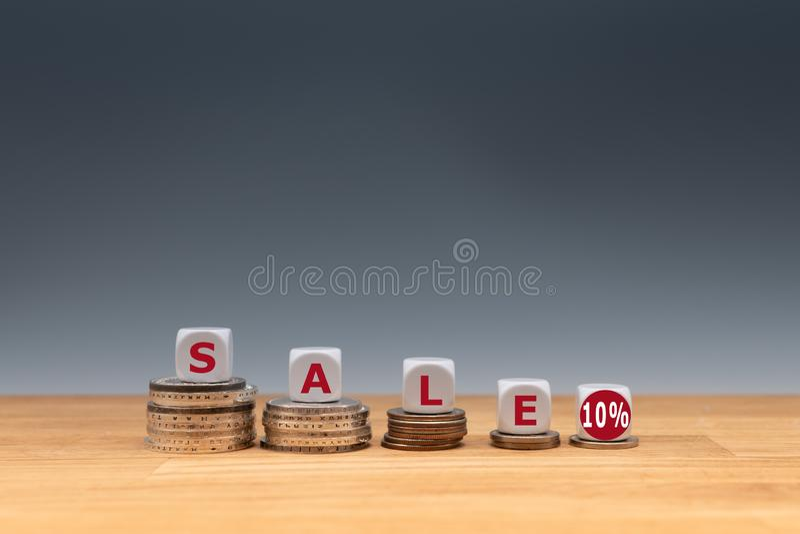 Symbool voor een verkoop met een 10% korting stock fotografie