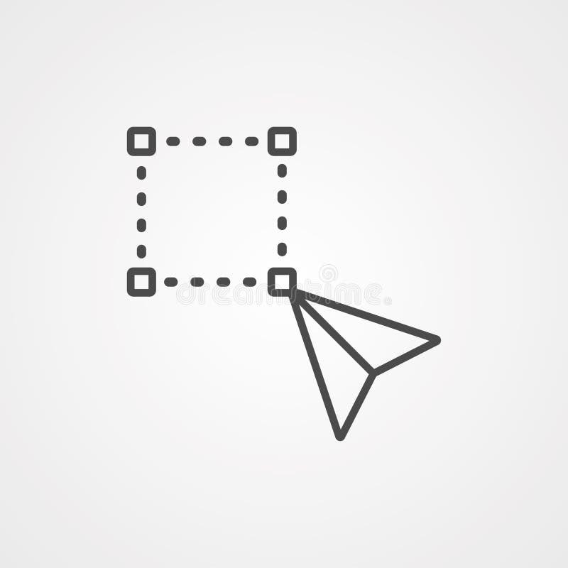 Symbool voor het transformeren van het pictogram van het gereedschap, vectorteken royalty-vrije illustratie
