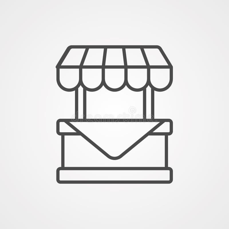 Symbool voor het vector-pictogram van standaard stock illustratie