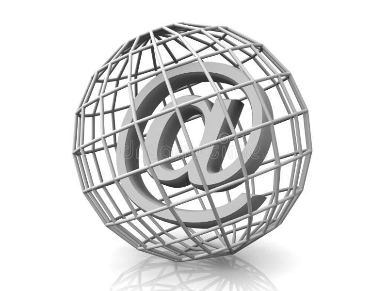 Symbool voor Internet royalty-vrije stock fotografie